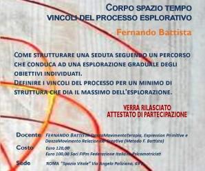 LABORATORIO DI DANZAMOVIMENTO RELAZIONALE-CREATIVA, Roma 9 E 10 aprile 2016