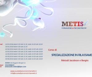 CORSO DI SPECIALIZZAZIONE IN RILASSAMENTO, A ROMA DA GENNAIO A GIUGNO 2018 – METODI JACOBSON E BERGÈS