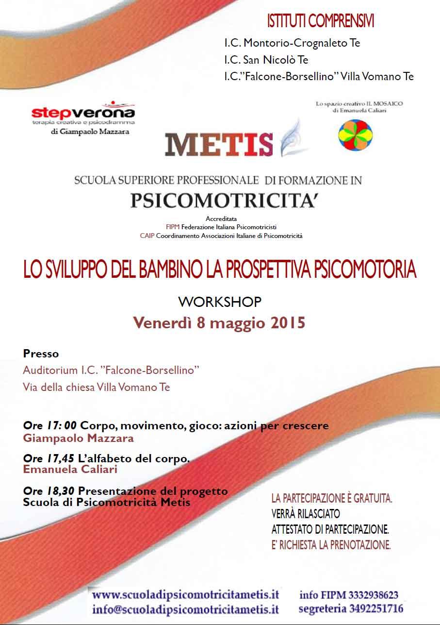 Lo sviluppo del bambino la prospettiva psicomotoria. 8 maggio 2015 a Teramo