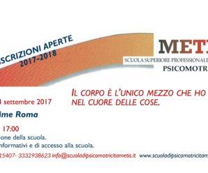 Sabato 23 settembre a Roma Presentazione della Scuola e colloqui informativi e di accesso alla Scuola – ISCRIZIONI APERTE 2017-2018